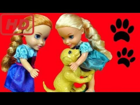 Cute Puppy Elsa Amp Anna Toddlers Adopt A Pet Dog Pees