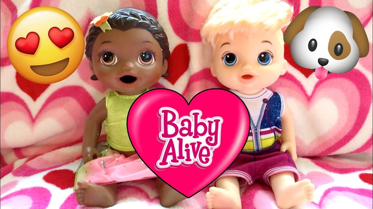 Baby Alive Has A Playdate Playing With The Puppy The